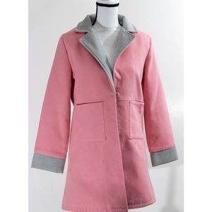 Blush Pink Peacoat With front Pockets